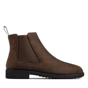 Clarks Chelsea Boots - Griffin Plaza Army Suede 40