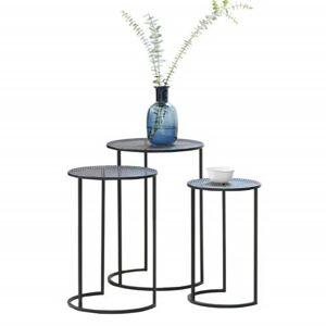 Lifa Living Sidebord sæt Metal Sort sæt med 3 stk Ø25 Ø30 Ø35