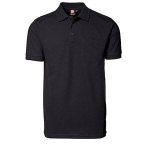 Id Pro Wear Poloshirts Med Brystlomme I Sort, Str. 4xl