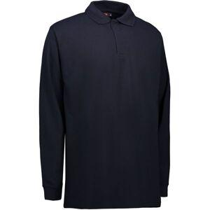 Id Pro Wear Langærmet Poloshirt Med Trykknap