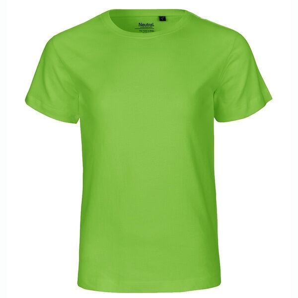 Neutral Økologisk Børne T-Shirts-Lime-92/98 92/98