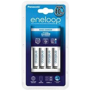 Panasonic Eneloop BQ-CC51E batterilader med 4xAAA batterier