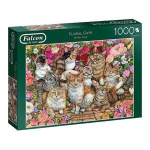 Floral Cats - 1000 brikker
