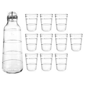 Holmegaard flaske og 10 drikkeglas - Scala