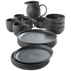 Knabstrup Keramik familiesæt - Silkemat grå
