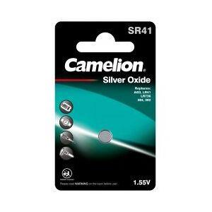 SR41 Camelion Sølvoxid-Knapcelle SR41/SR41W / G3 / 392 / LR41 / 192 1er Blister