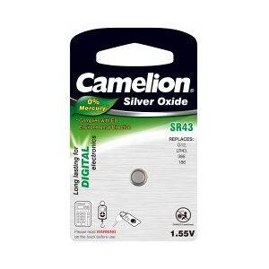 SR43 Camelion Batterie til Lommeregner, Autoschlüssel SR43/G12/LR43/186/386 1er Blister