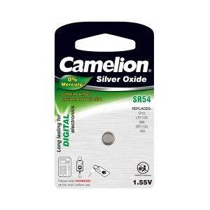 SR54 Camelion Sølvoxid Knapcelle SR54/G10/LR1130/389/SR1130/189 1er Blister