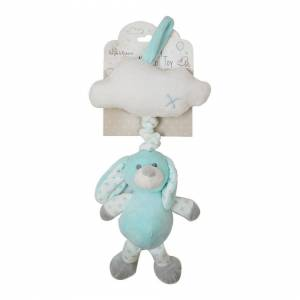 RSW Hugs & Kisses Baby Musical Plush Toy Pastel Green Mint White Bunny Lullaby 40cm