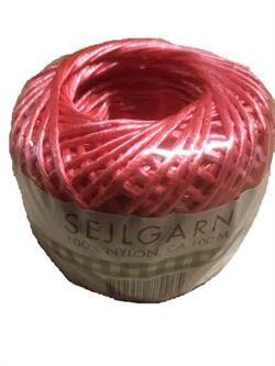 Sejlgarn nylon ca. 100 meter - Rød