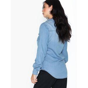 Vila Vibista Denim Shirt/Su-Noos Skjorter Medium Blue
