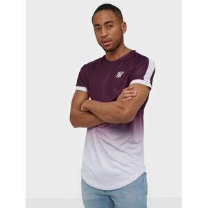 SikSilk S/S Fade Tech Tee T-shirts & undertrøjer Burgundy