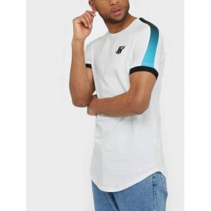 SikSilk S/S Insert Cuff Fade Panel TechTee T-shirts & undertrøjer White