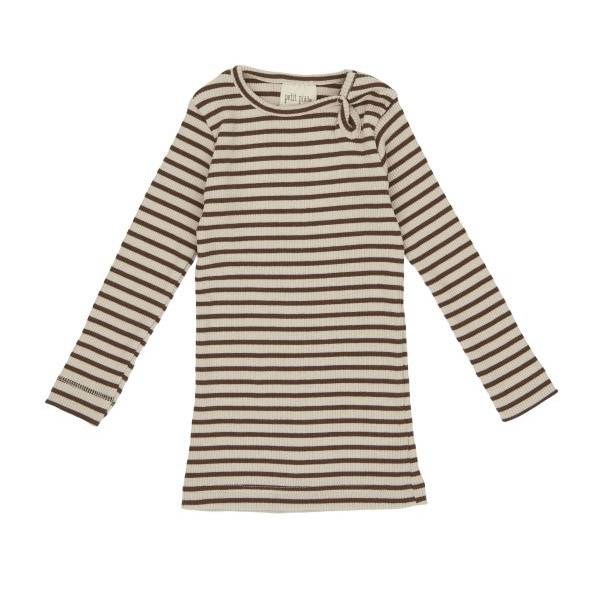 Petit Piao Modal Bluse - Bison Brown/Beige