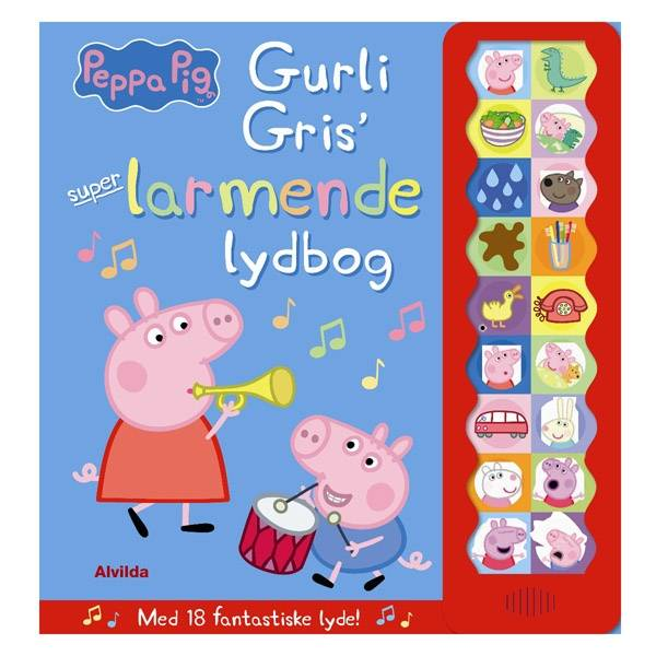 Alvilda Gurli Gris'Larmende Lydbog 10574 unisex  gris