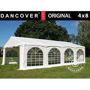 """Dancover Partytelt Festtelt Original 4x8m PVC, """"Arched"""", Hvid"""