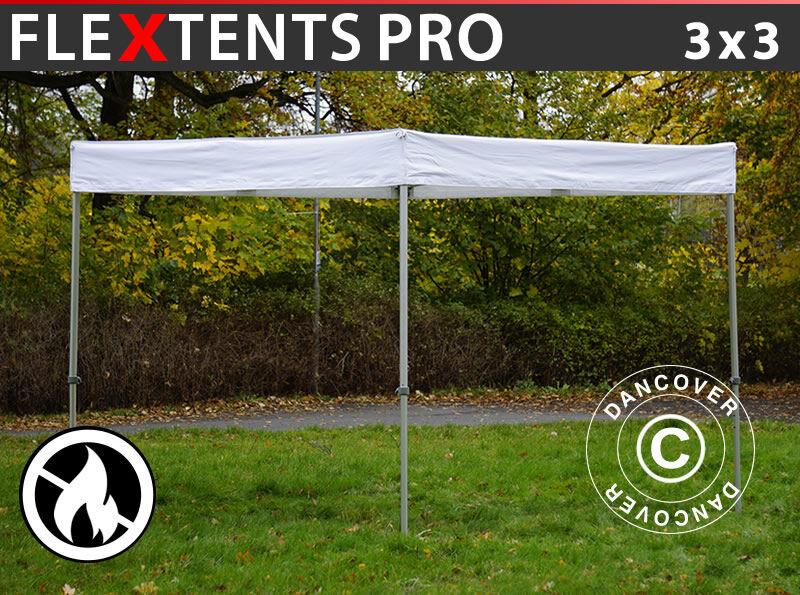 Dancover Foldetelt FleXtents Easy up pavillon® PRO Exhibition 3x3m Hvid, Brandhæmmende