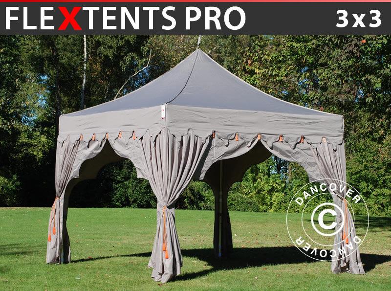 """Dancover Foldetelt FleXtents Easy up pavillon PRO """"Raj"""" 3x3m Latte/Orange"""