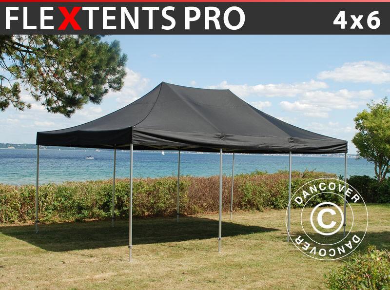 Dancover Foldetelt FleXtents Easy up pavillon PRO 4x6m Sort