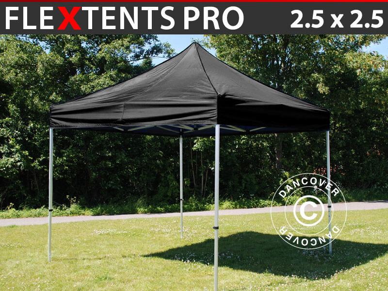 Dancover Foldetelt FleXtents Easy up pavillon PRO 2,5x2,5m Sort