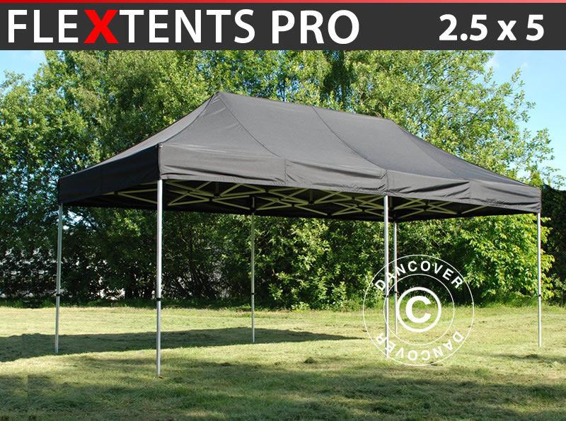 Dancover Foldetelt FleXtents Easy up pavillon PRO 2,5x5m Sort