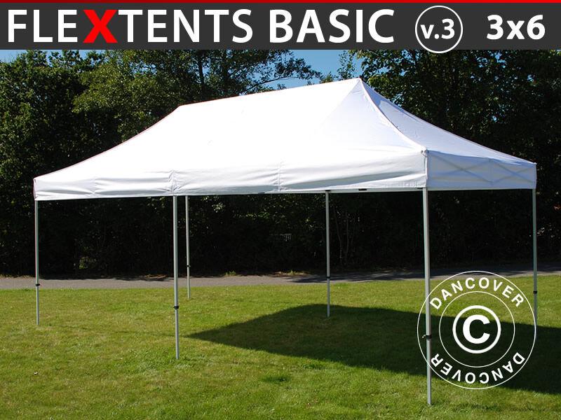 Dancover Foldetelt FleXtents Easy up pavillon Basic v.3, 3x6m Hvid