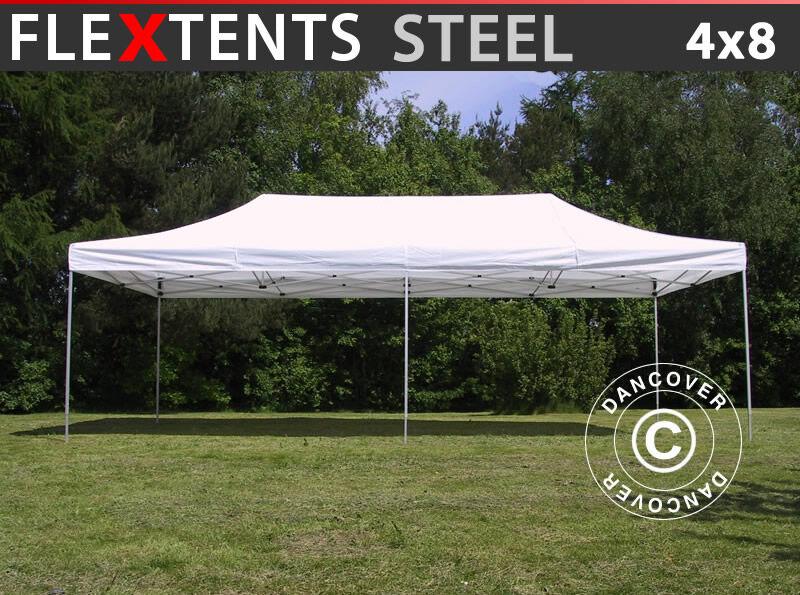 Dancover Foldetelt FleXtents Easy up pavillon Steel 4x8m Hvid