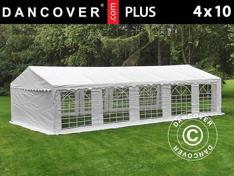 Dancover Partytelt Festtelt PLUS 4x10m PE, Hvid