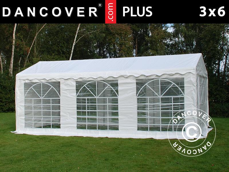 Dancover Partytelt Festtelt PLUS 3x6m PE, Hvid