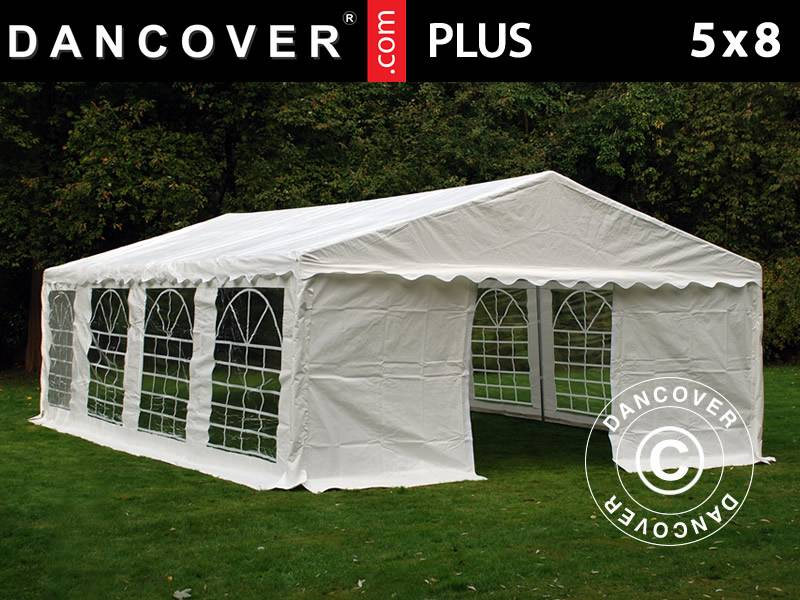 Dancover Partytelt Festtelt PLUS 5x8m PE, Hvid