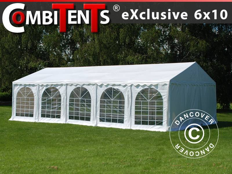 Dancover Partytelt Festtelt, Exclusive CombiTents® 6x10m, 3-i-1, Hvid