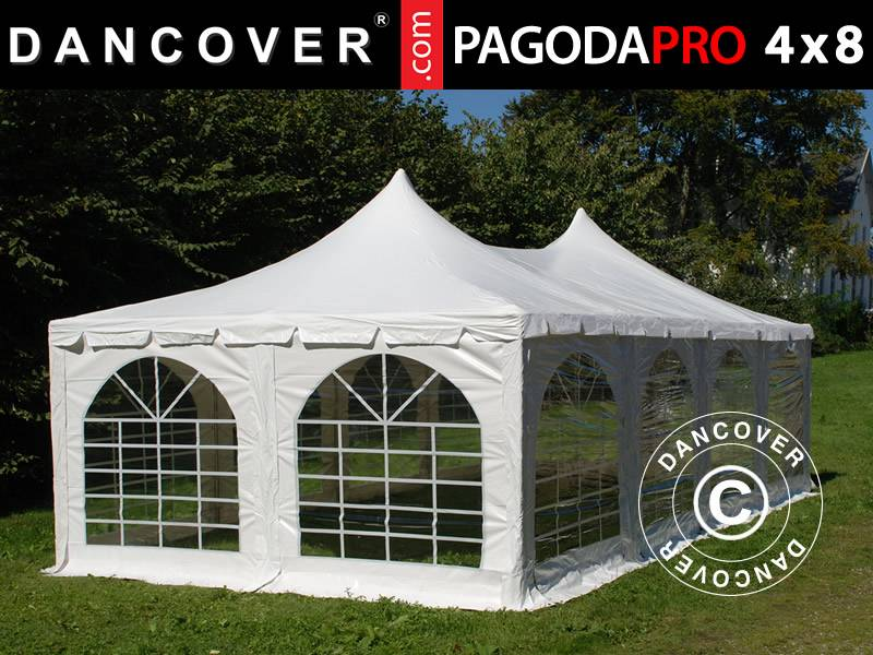 Dancover Partytelt Festtelt Pagoda PRO 4x8m, PVC