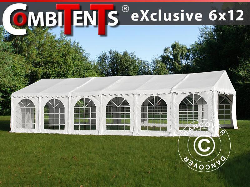 Dancover Partytelt Festtelt, Exclusive CombiTents® 6x12m, 4-i-1, Hvid