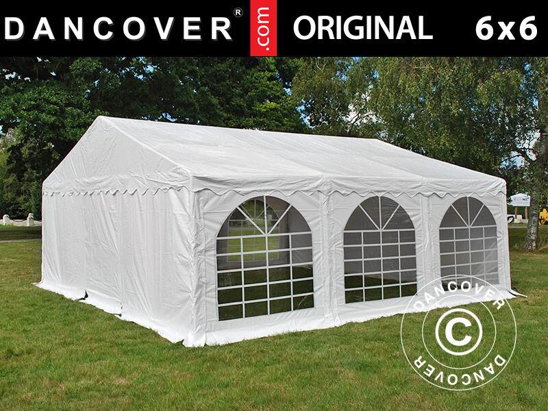 Dancover Partytelt Festtelt Original 6x6m PVC, Hvid