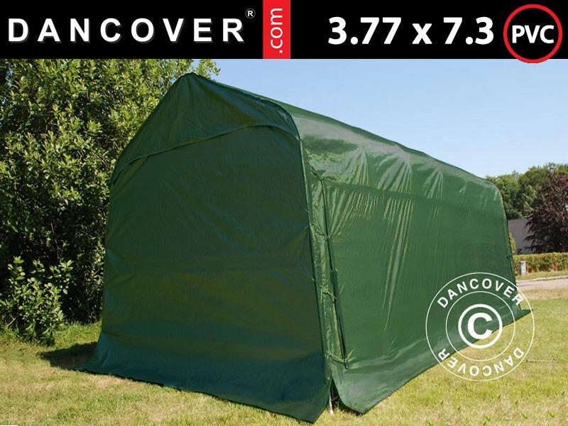 Dancover Garagetelt Opbevaringstelt PRO 3,77x7,3x3,18m PVC, Grøn