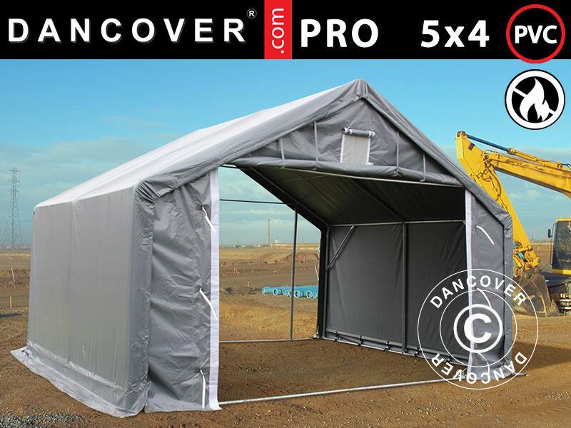 Dancover Lagertelt PRO 5x4x2x3,39m, PVC, Grå