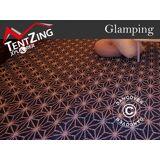 Dancover Tæpper til 5m TentZing® glampingtelt, 2 stk., Blå/Hvid