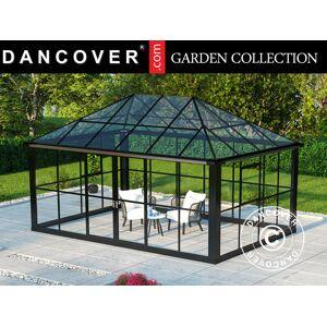 Dancover Orangeri/Pavillon /Havepavillon Glas 12,86m², 4,36x2,95x2,7m, m/sokkel, Sort