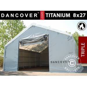 Dancover Telthal Lagertelt Titanium 8x27x3x5m, Hvid/Grå
