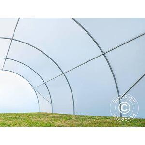 Dancover Polytunnel drivhus 4x6m, 24m², 150My, Semitransparent