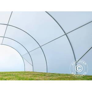 Dancover Polytunnel drivhus 4x8m, 32m², 150My, Semitransparent