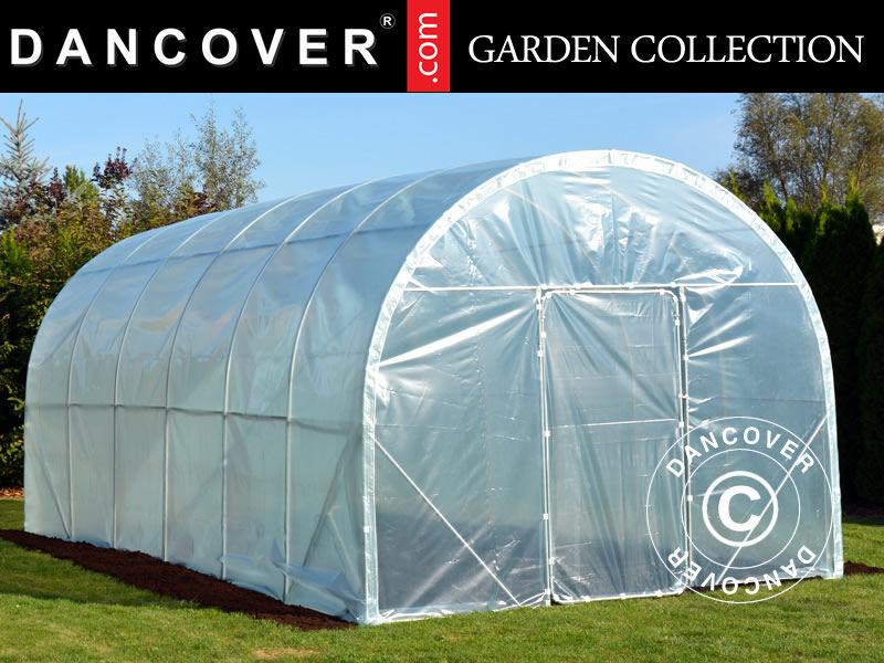 Dancover Polytunnel Drivhus 120, 3x6x2,4m, 18m², Transparent