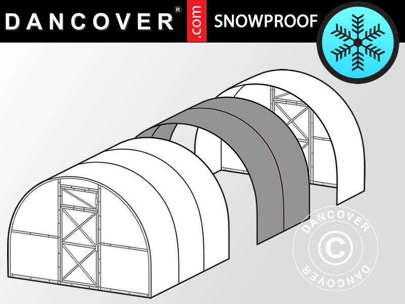 Dancover Drivhus polycarbonat Forlængelse, Strong, 6m², 3x2m, Sølv