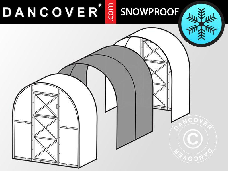Dancover Drivhus polycarbonat Forlængelse, Duo, 4m², 2x2m, Sølv
