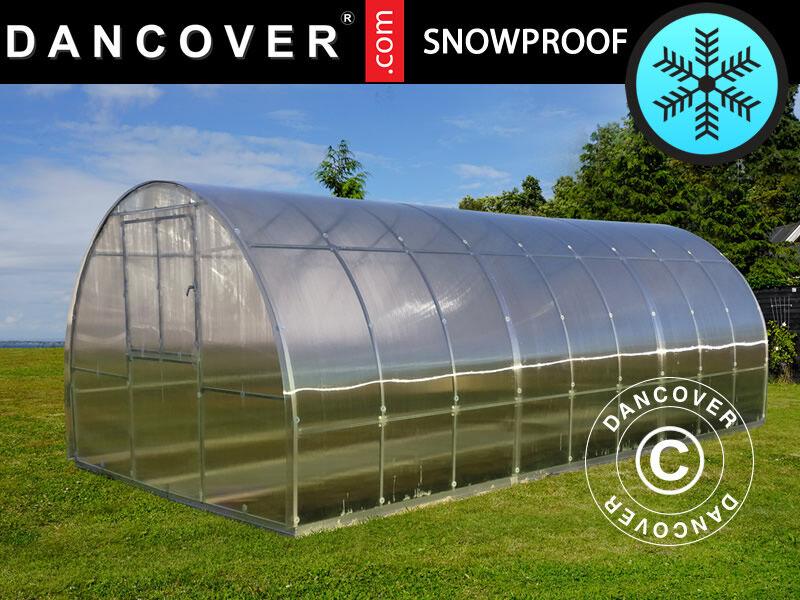 Dancover Drivhus polycarbonat TITAN Arch+ 320, 24m², 3x8m, Sølv