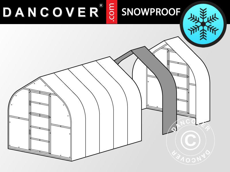 Dancover Drivhus polycarbonat forlængelse, TITAN Dome 320, 5m², 2,5x2m, Sølv