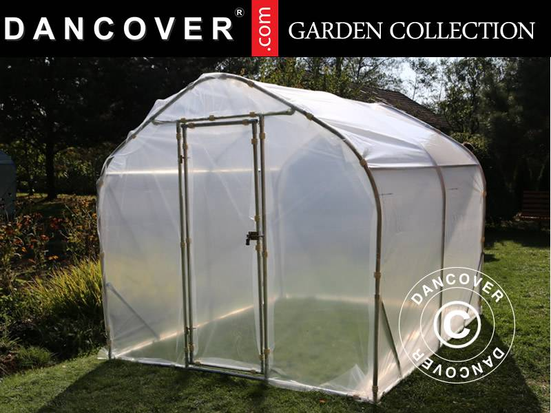 Dancover Polytunnel Drivhus SEMI PRO 2x5x2m, Transparent
