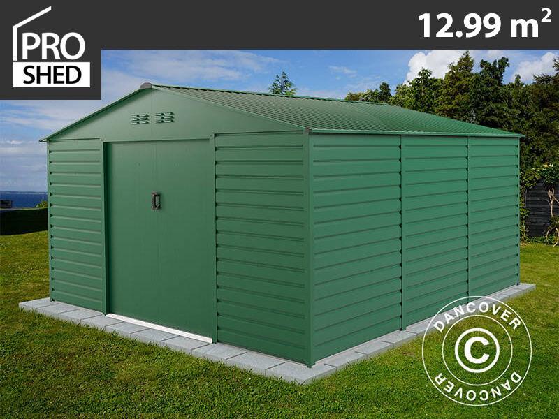 Dancover Redskabsskur Redskabsrum Haveskur 3,4x3,82x2,05m ProShed®, Grøn