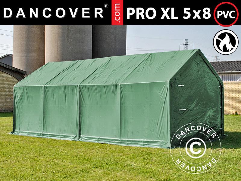 Dancover Lagertelt PRO 5x8x2,5x3,89m, PVC, Grøn