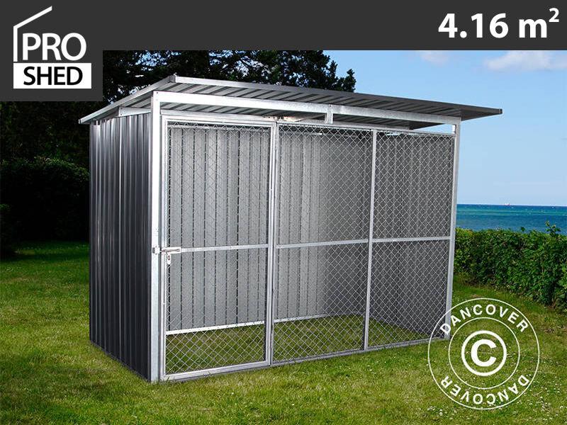Dancover Løbegård til hunde 2,6x1,6x1,8m ProShed®, Antracit